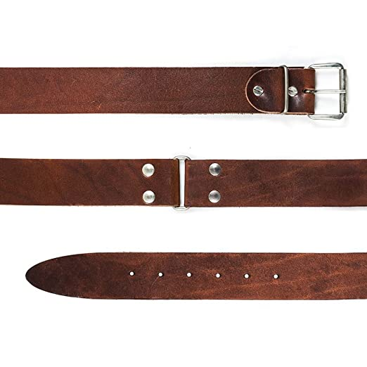15 opinioni per Cintura da lavoro in Cuoio Marrone ad Alto Spessore, 130 cm, doppio pezzo.