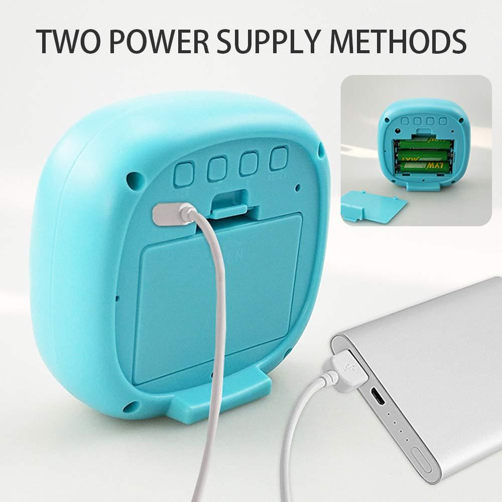 GUOYIHUA Reloj Despertador Digital LED con Superficie de Espejo Maquillaje multifunción Reloj electrónico Recargable Fuente de alimentación de Doble Uso ...