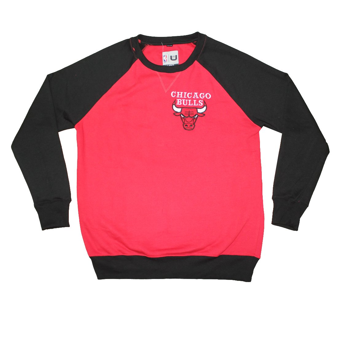 BIG & TALL NBA Mens CHICAGO BULLS: Athletic Pullover Sweatshirt 2XL Multicolor