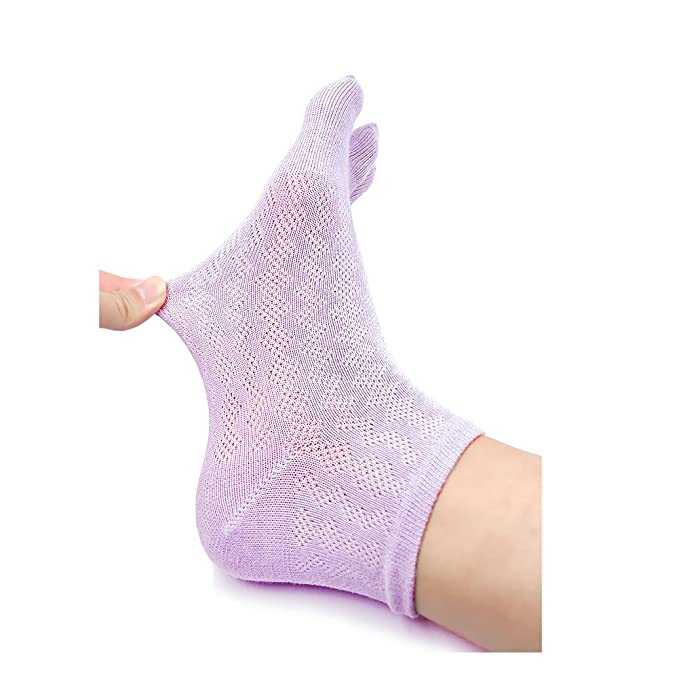 Zehensocken Damen F/ünf Finger Socken aus Baumwolle 5 Paare EU 35-41 Atmungsaktiv Damen Sneaker Socken mit Zehen
