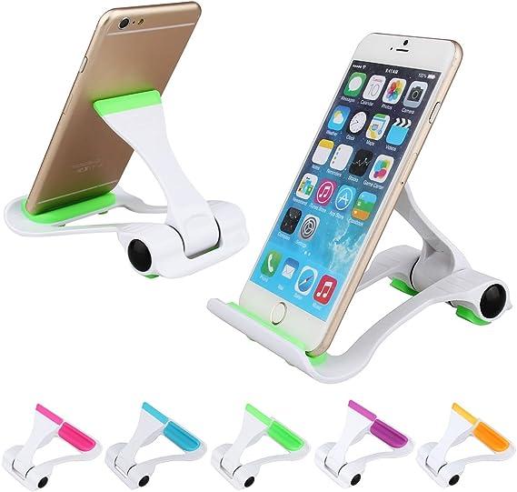 Pocket-Sized Adjustable Collapsible Plastic Cellphone Holder-Khaki Smartphone Mounts Mobile Cell Phone Mount