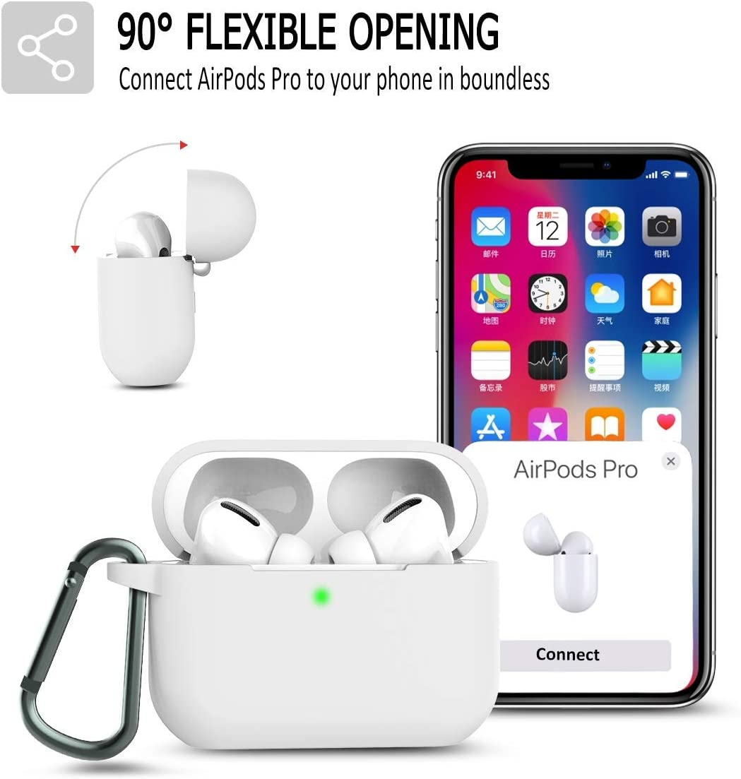 Airpod pro case Airpods 3 with Keychain . Waterproof Protective Shockproof Protective Premium Silicone Cover Skin Front LED Visible and Wireless Charging is Available