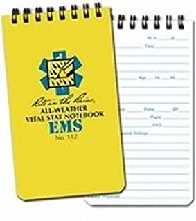 """product image for Rite in the Rain Weatherproof EMS Notebook, 3"""" x 5"""", Yellow Cover, Vital Stats Pages (No. 112)"""
