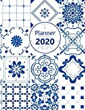 """Planner 2020: Monthly and Weekly Planner. Week on 1 page. Start your week with weekly Focus, Tasks, To-Dos. Monday start week. 11.0"""" x"""
