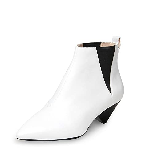 aa2b65704 Ash Cosmos Ankle Boots White Leather 39 White.  Amazon.co.uk  Shoes ...