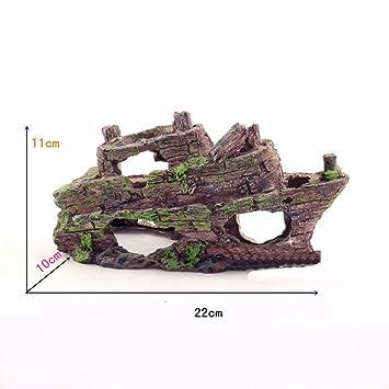 CWDYP acuario paisaje acuario ramas porosas barco manualidades muebles decoración hogar adornos pecera acuario características