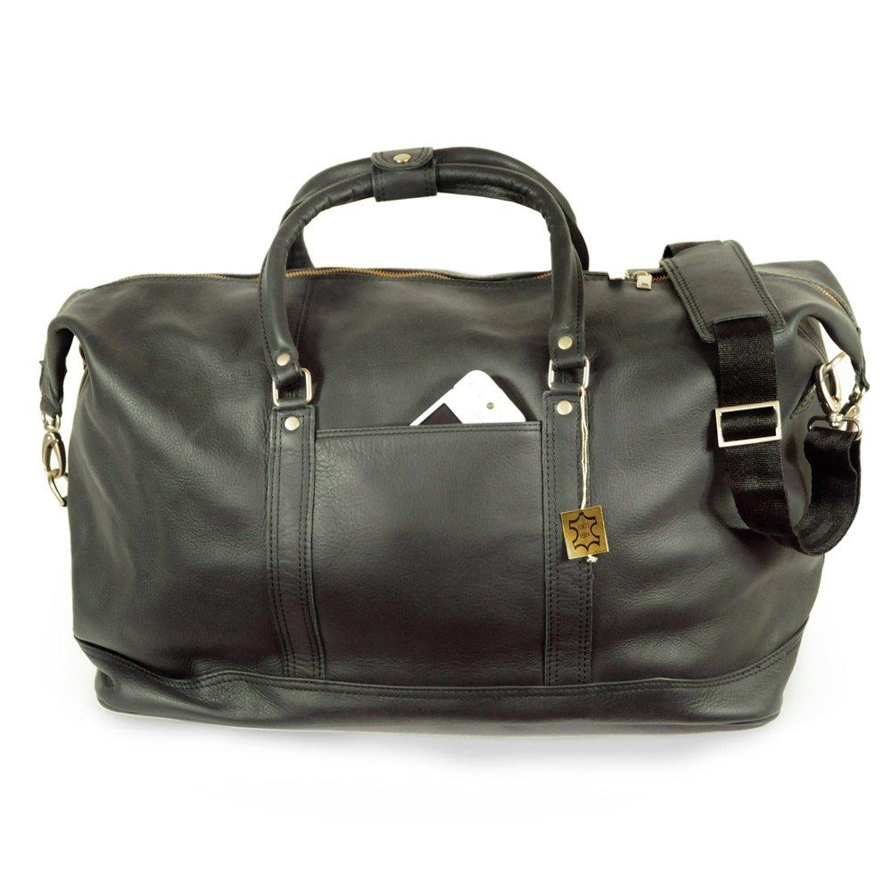 marron Jahn-Tasche 697 pour hommes et femmes Grand sac de voyage//sac de week-end taille L en cuir nappa