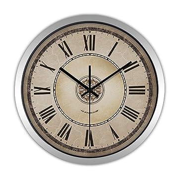 Nawzhq Reloj de Pared Grande para Relojes Cualquier Sala de Estar, Comedor, Cocina, Pasillo, Sala de Estar, Invernadero o Dormitorio Clock: Amazon.es: Hogar
