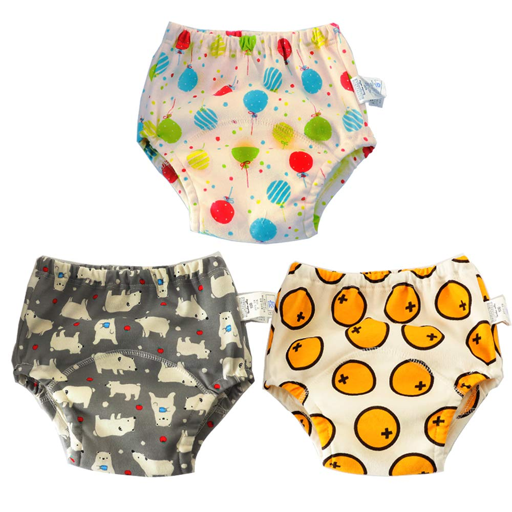 1T-4T Learning Designs Training Underwear Pants 6 Pack Potty Training Pants for Boys Girls