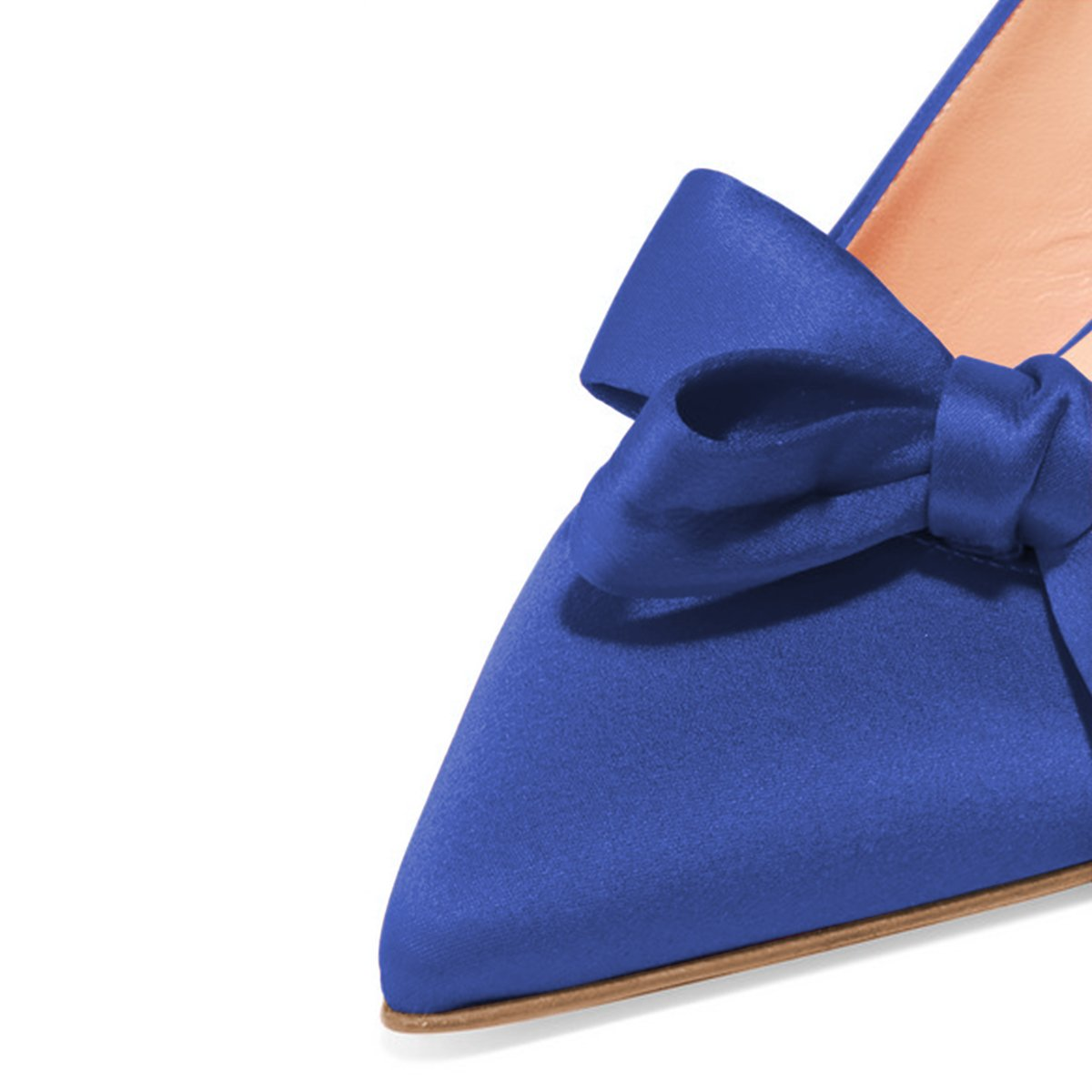 XYD Women Fashion High Pointed Toe Slingback Pumps High Fashion Heel Slip On Dress Shoes with Bows B0799H83P8 8.5 B(M) US|Blue Suede b6b468