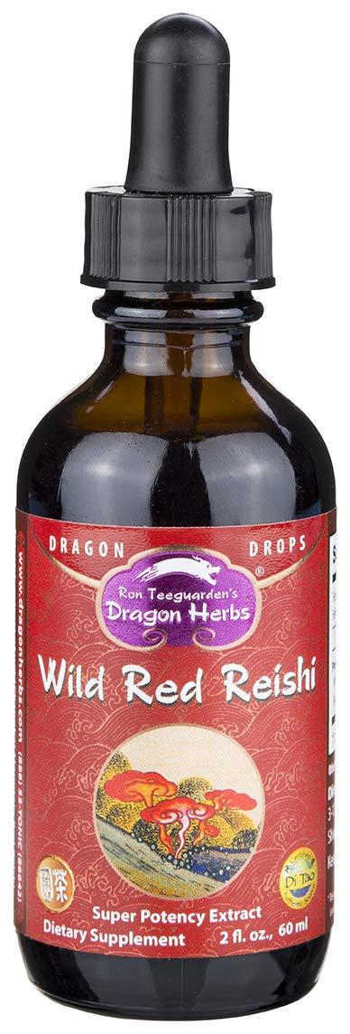 Dragon Herbs Wild Reishi Mushroom Super Potency Extract – 2 Fl Oz