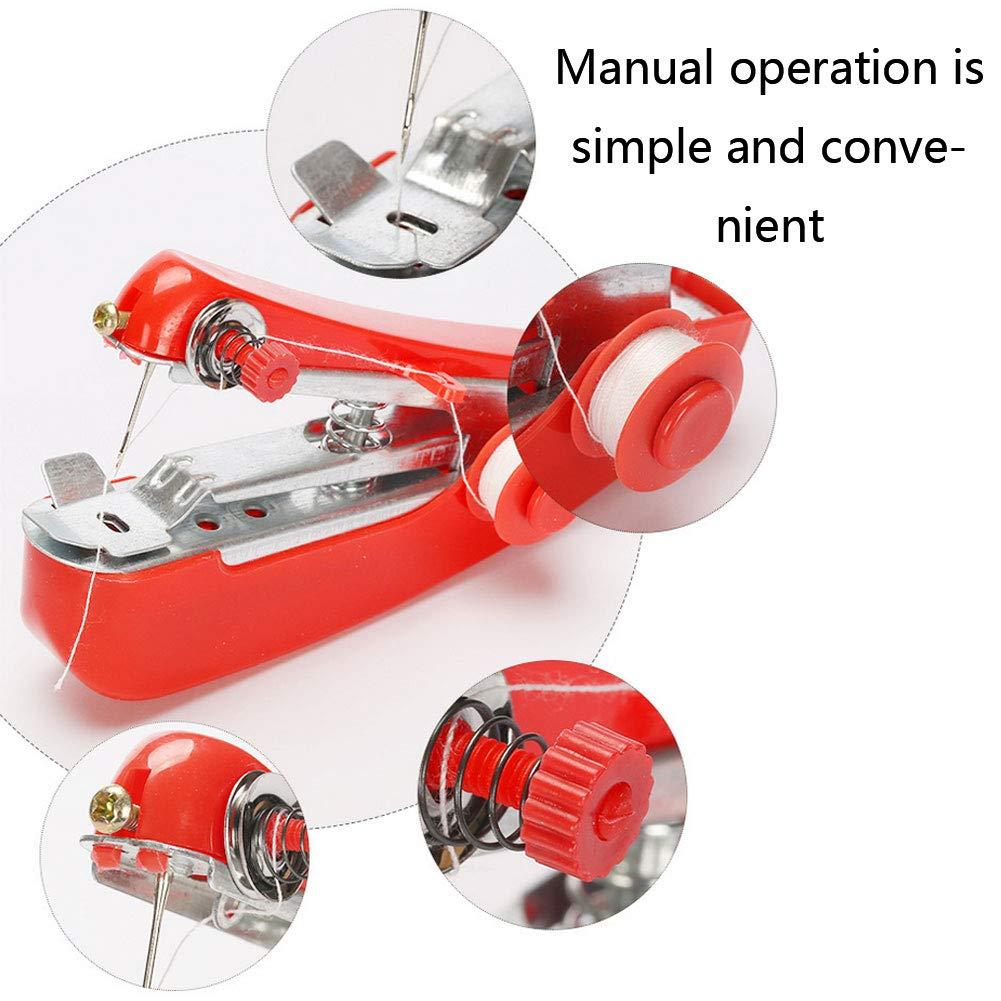 DOMIRE Mini m/áquina de Coser Manual port/átil m/áquina de Coser de Puntada /única