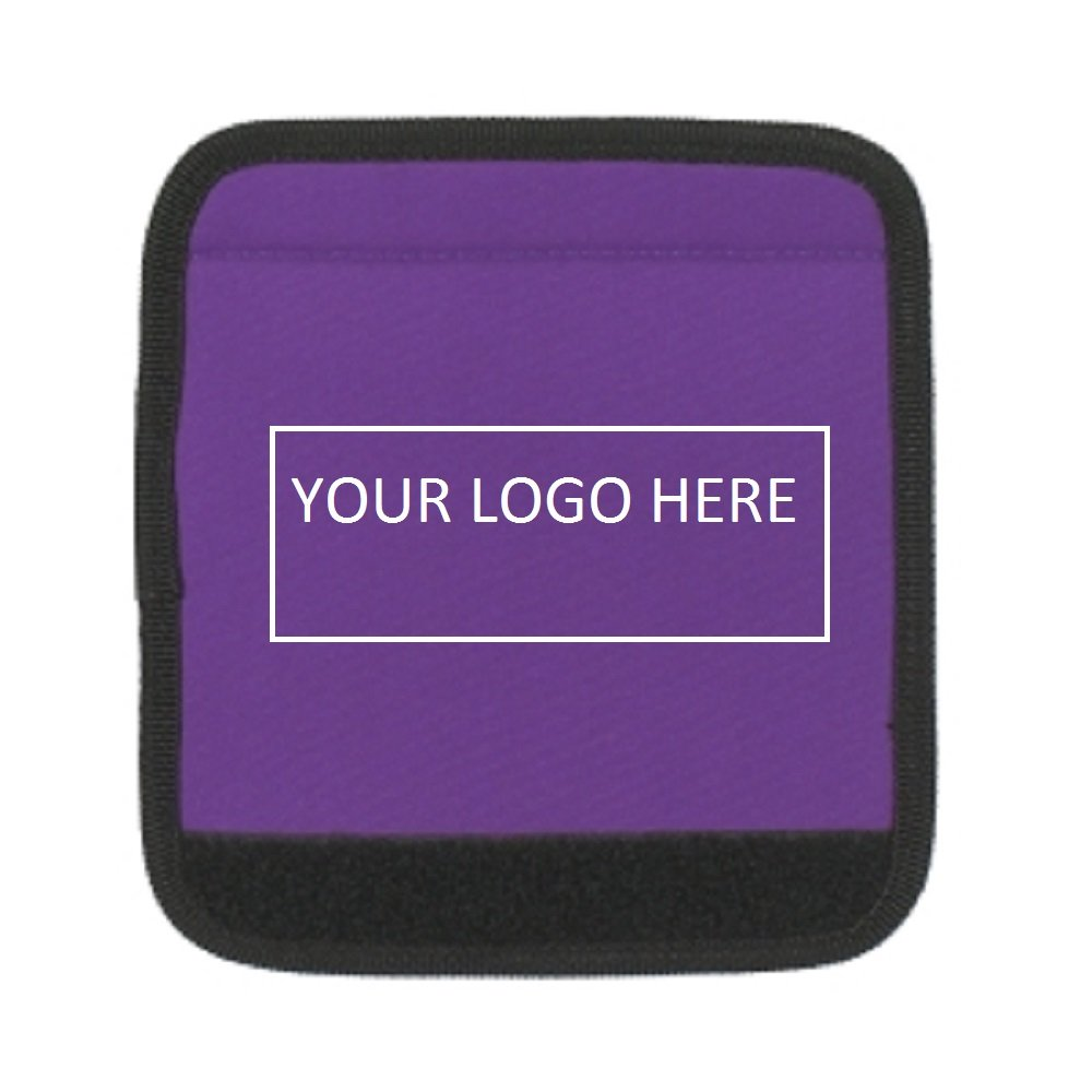 Luggage Spotter Super Grabber Neoprene Handle Wrap - 100 Qty - $1.95 Each - PROMOTIONAL PRODUCT/BULK/BRANDED with YOUR LOGO/GREAT GIFT or TRADE SHOW GIVEAWAY by Luggage Spotter