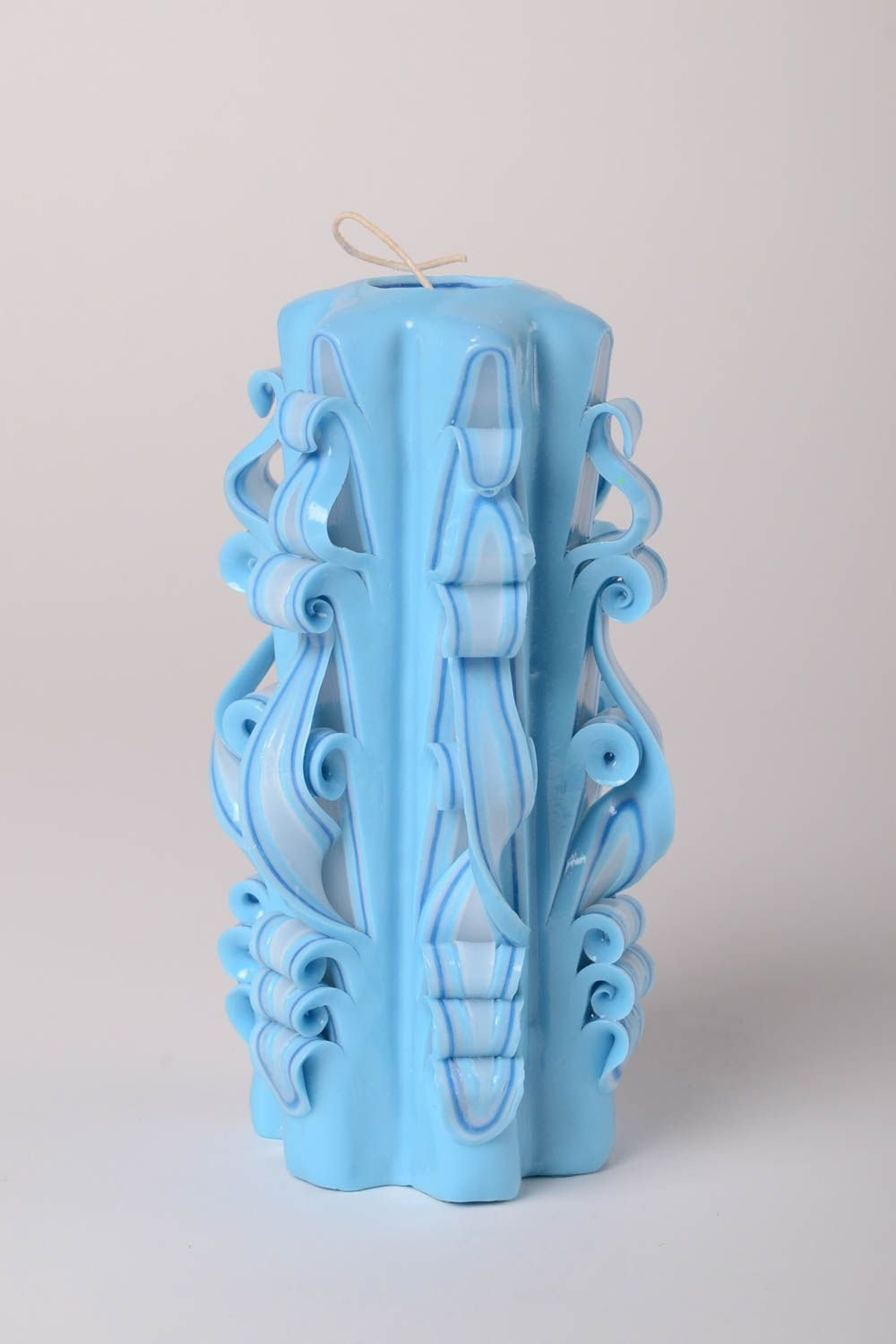 Handmade Blue Paraffin Candle Decorative Candle Gifts For Girls Bedroom Decor