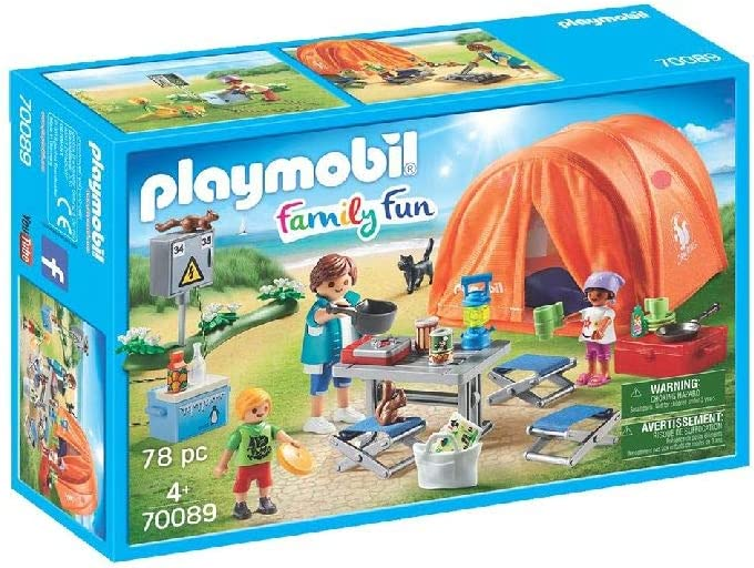 PLAYMOBIL Family Fun Tienda de Campaña, A partir de 4 años (70089)