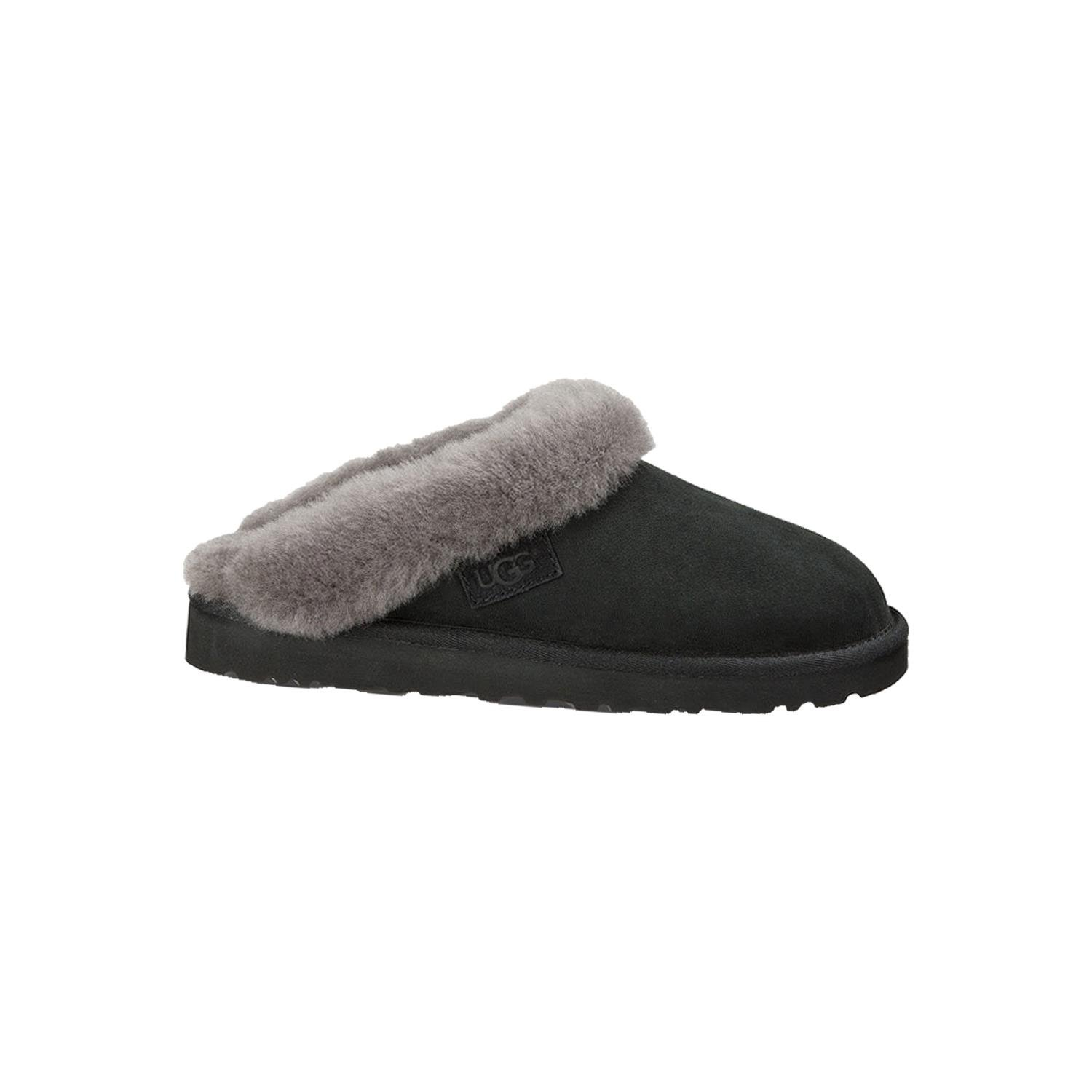 UGG Women's Cluggette Black Twinface Slipper 12 B (M)