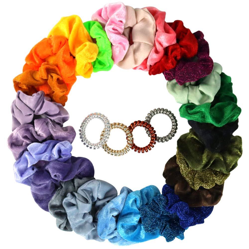 10//20Pcs Women Hair Scrunchies Velvet Elastic Hair Bands Scrunchy Rope Ties A+++