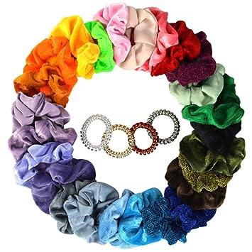 Women Velvet Scrunchie Elastic Hair Bands Scrunchy Girl Pearl Hair Tie Rope Gift