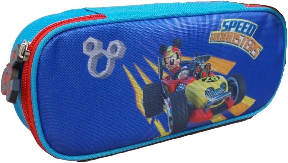 Disney Estuche para lápices Case TOPOLINO Mickey Mouse Camera 1 Hinge 2 Compartimentos - MIC0243: Amazon.es: Juguetes y juegos