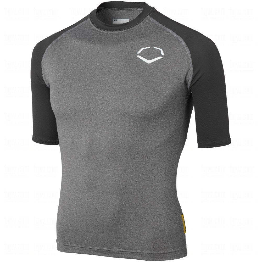 Evoshield Youth 3 / 4スリーブシャツ B00IAA780C Medium|Grey|Black Grey|Black Medium