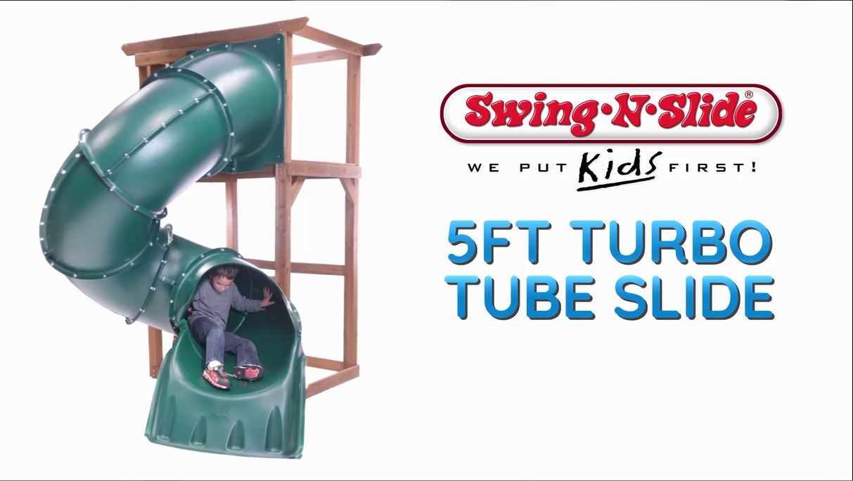 Swing-N-Slide Turbo Tube Slide for 5 foot play set deck height with lifetime warranty