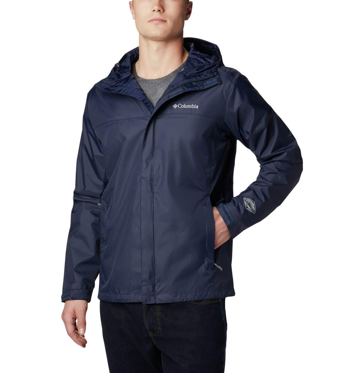 Columbia Men's Big & Tall Watertight II Packable Rain Jacket,Collegiate Navy,4X by Columbia