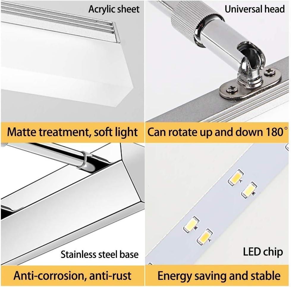 LED Kosmetikspiegelleuchte, wasserdichte IP44 Make-up-Beleuchtung, Spiegelleuchte 180 verstellbare Wandleuchte, Fledermaus 82cm20w