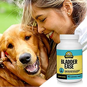 Zoeez Naturals Bladder Ease: Bladder Wellness Formula For Dogs | Natural Bladder Wellness Supplement - Made Without Wheat or Artificial Ingredients, 90 Chewable Tablets (Smoke Flavor)