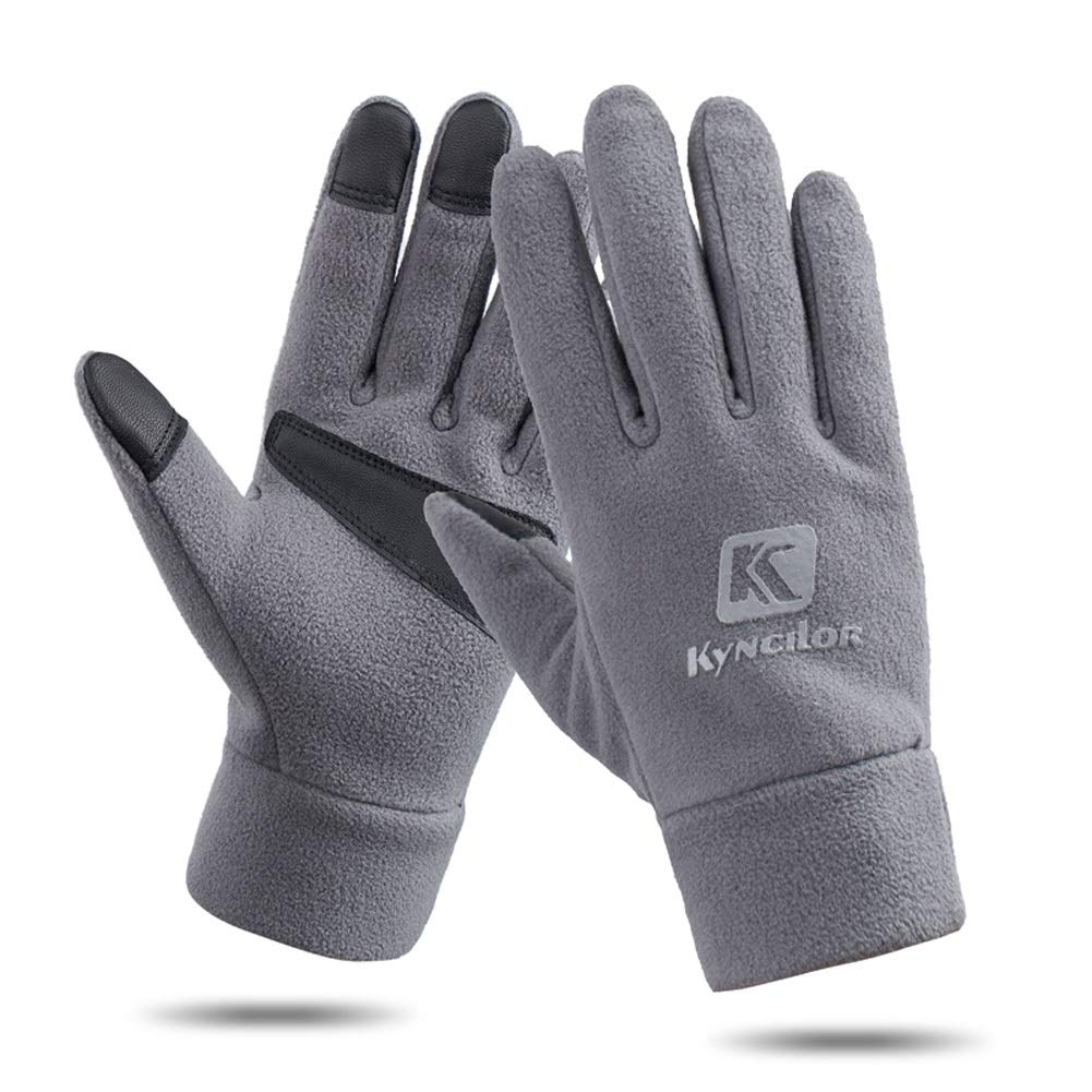 AINIYF Outdoor Sports Smart Gloves | Men's Winter Sports Mountaineering Skiing Women's Windproof Thicken Cycling Warm Motorcycle Full Finger Gloves Touch Screen (Color : Gray, Size : S)