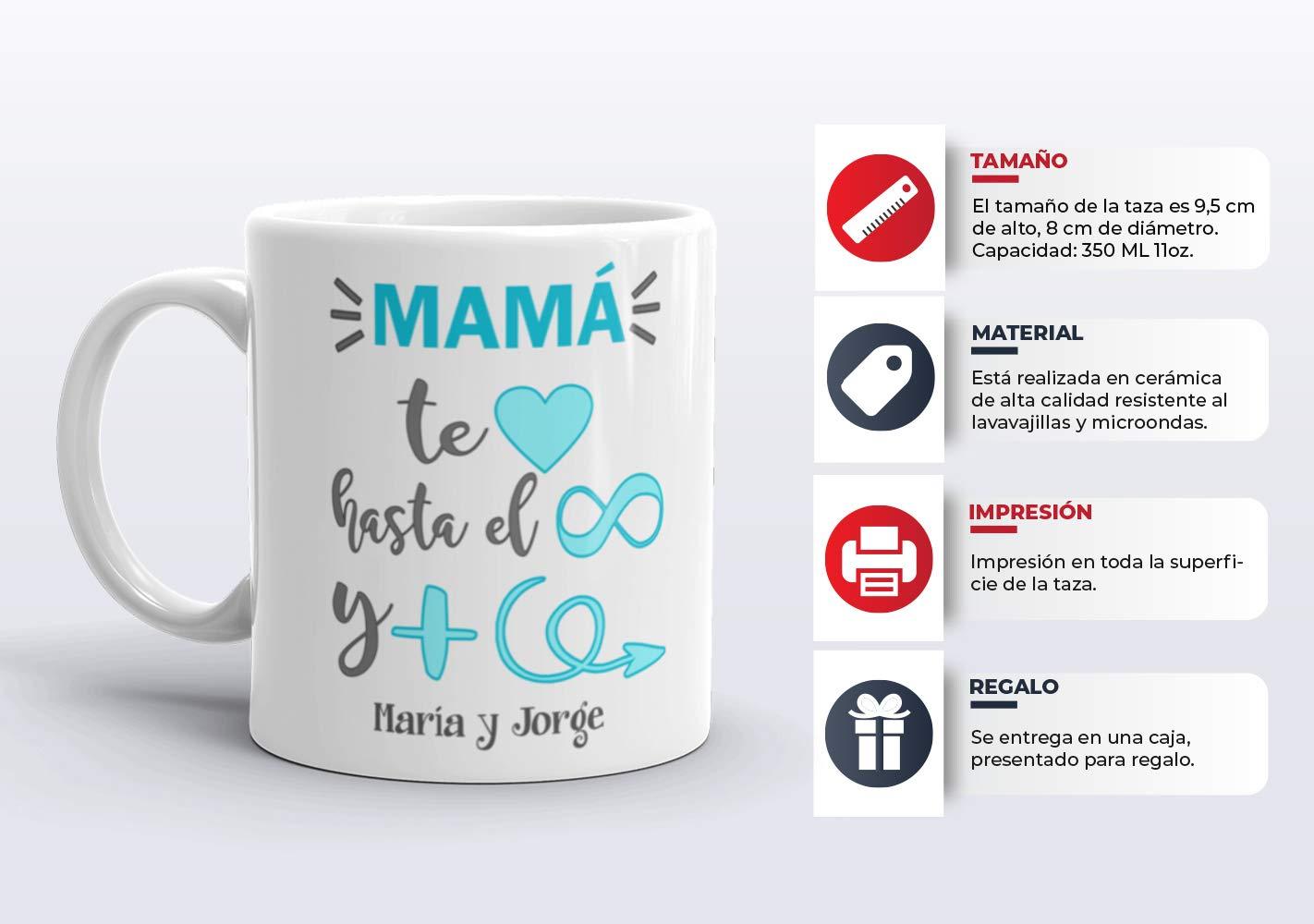 Kembilove Taza de Café Mama Personalizada - Taza de Desayuno con ...