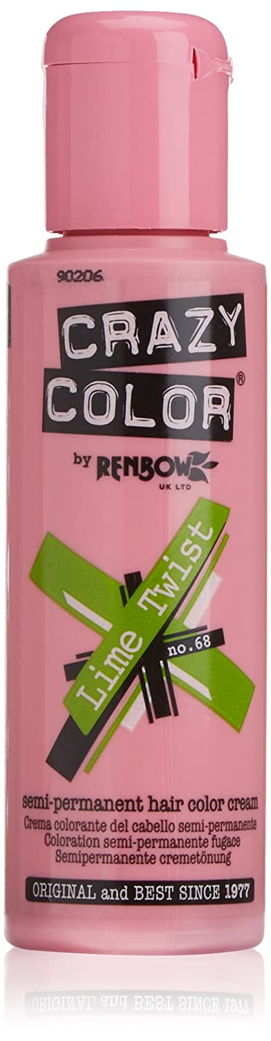 Crazy Color Hair Color Cream Number 68, Lime Twist 100 ml 9290