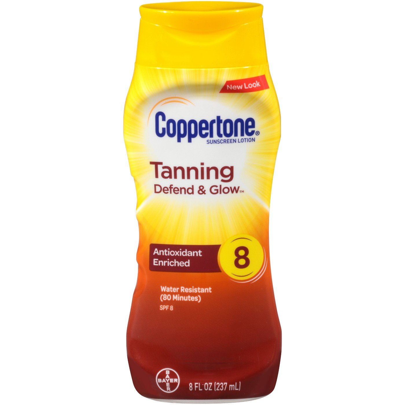Coppertone Tanning Lotion SPF 8 Sunscreen-8 oz, 2 pack No Model