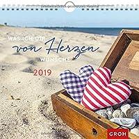 Was ich dir von Herzen wünsche 2019: Dekorativer Wandkalender mit Monatskalendarium | Maße (BxH): 21x20cm