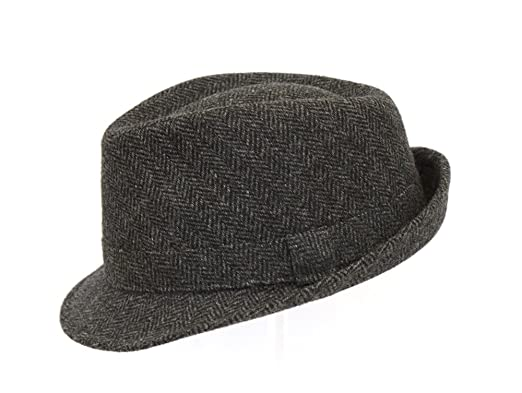 Image Unavailable. Image not available for. Colour  Men s Grey Country  Tweed Trilby Fedora Hat BL68 42ded937ff58