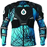 SixSix One Unisex Evo Pressure Suit Upper Body Race Suit Motorcycle Body Armor - Black/Cyan/Small