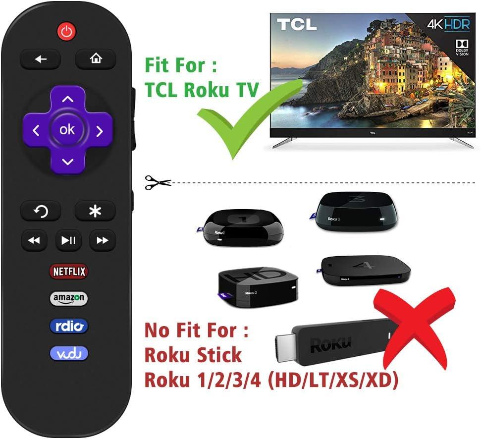 Gvirtue Remote Control Compatible with TCL Roku TV Remote LED HDTV RC280 49S405 28S3750 32FS3700 32FS4610R 32S800 32S850 32S3700 32S3850 32S3800 43FP110 55FS4610R 55FS3750 55FS3700 48FS3700 RC282