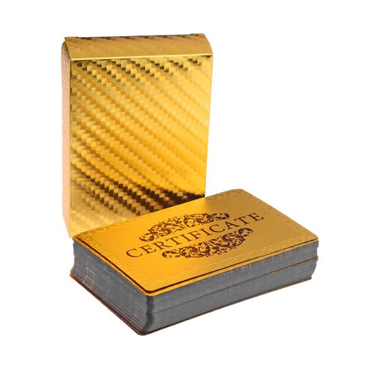 24k gold foil poker cards texas golden poker 2