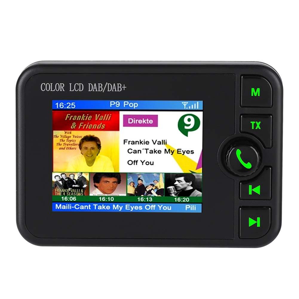 DAB//DAB+ Autoradio Adapter FM Transmitter KFZ Ladeger/ät DAB Transmitter TF Karte Musik Spielen 2,4 LCD Display mit Bluetooth Freisprecheinrichtung Aux in//Out