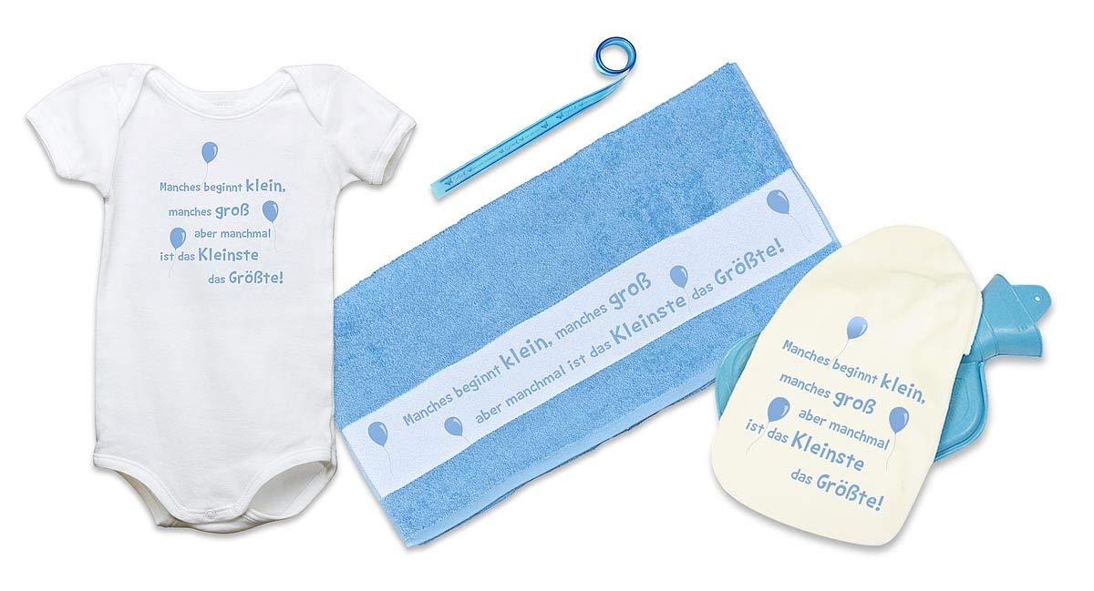 赤ちゃんと一緒に赤ちゃんのギフトセット - 男の子や女の子のための湯たんぽとリボンの言うデザインビーチタオル - から選択するさまざまなことわざ、Motiv 06、3/6 M B01N8UL8FX