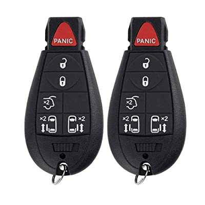 6 Button Keyless Entry Remote Car Key Fob Replacement M3N5WY783X IYZ-C01C Compatible for 2008-2014 Dodge Grand Caravan, 2008-2015 Chrysler Town & Country: Car Electronics [5Bkhe0400063]