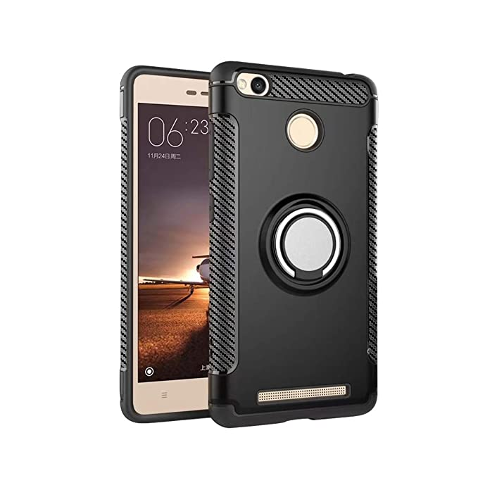 new arrival c9af8 ad2b5 Amazon.com: Case Xiaomi Redmi 4A Case with Ring Grip Holder Stand ...