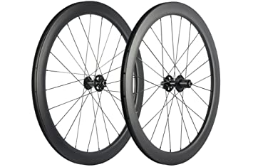 Windbreak Bike Carbon Fiber Road Disc Brake Wheelset 50mm Clincher