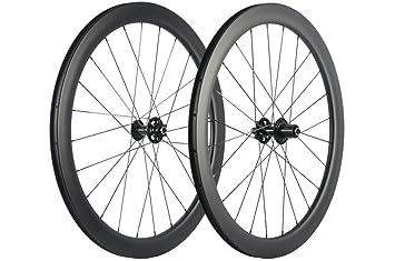 Windbreak Bike Carbon Fiber Road Disc Brake Wheelset 50mm Clincher