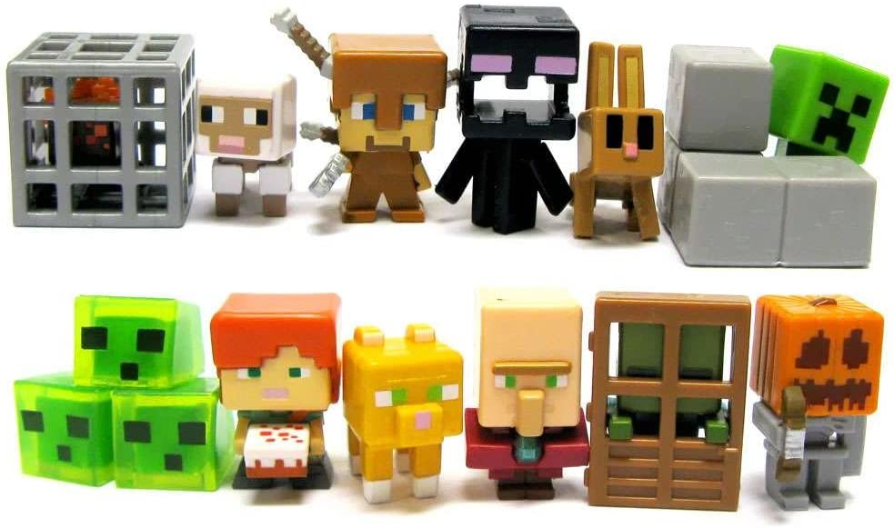 with Pumpkin Helmet Skeleton Minecraft Series 4 Obsidian Series