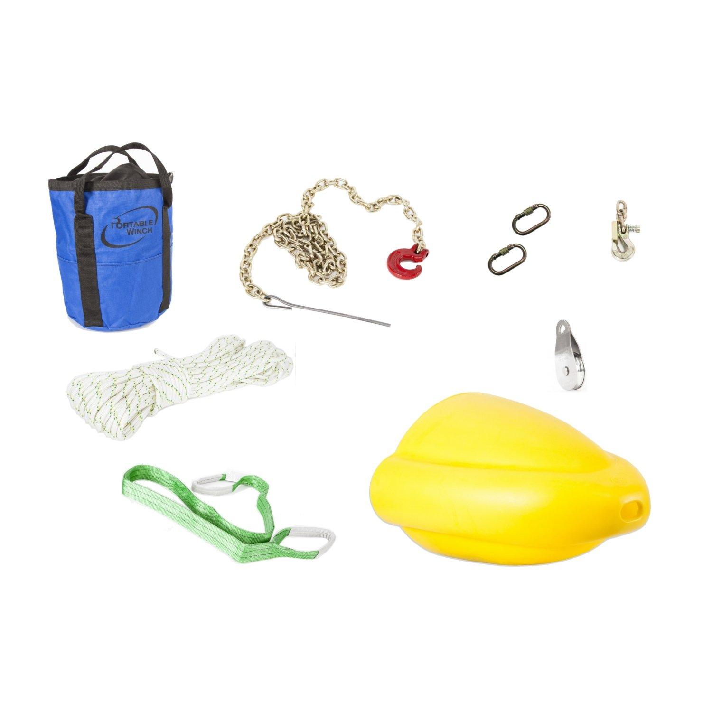 PORTABLE WINCH Kit d'accessoires forestiers pour treuil portable PWC3000 50 m by Portable Winch