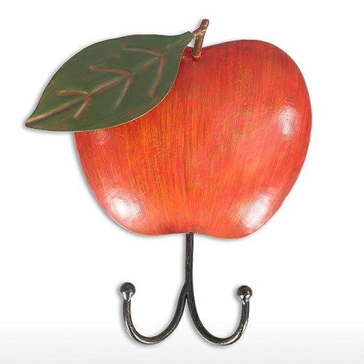 YJWKR Escultura Manzanas Llavero de Pared Decorativo Hierro ...
