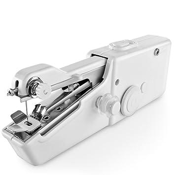 Mano Máquina de coser mini portátil práctico eléctrico Hogar Tejido de punto de herramienta para DIY