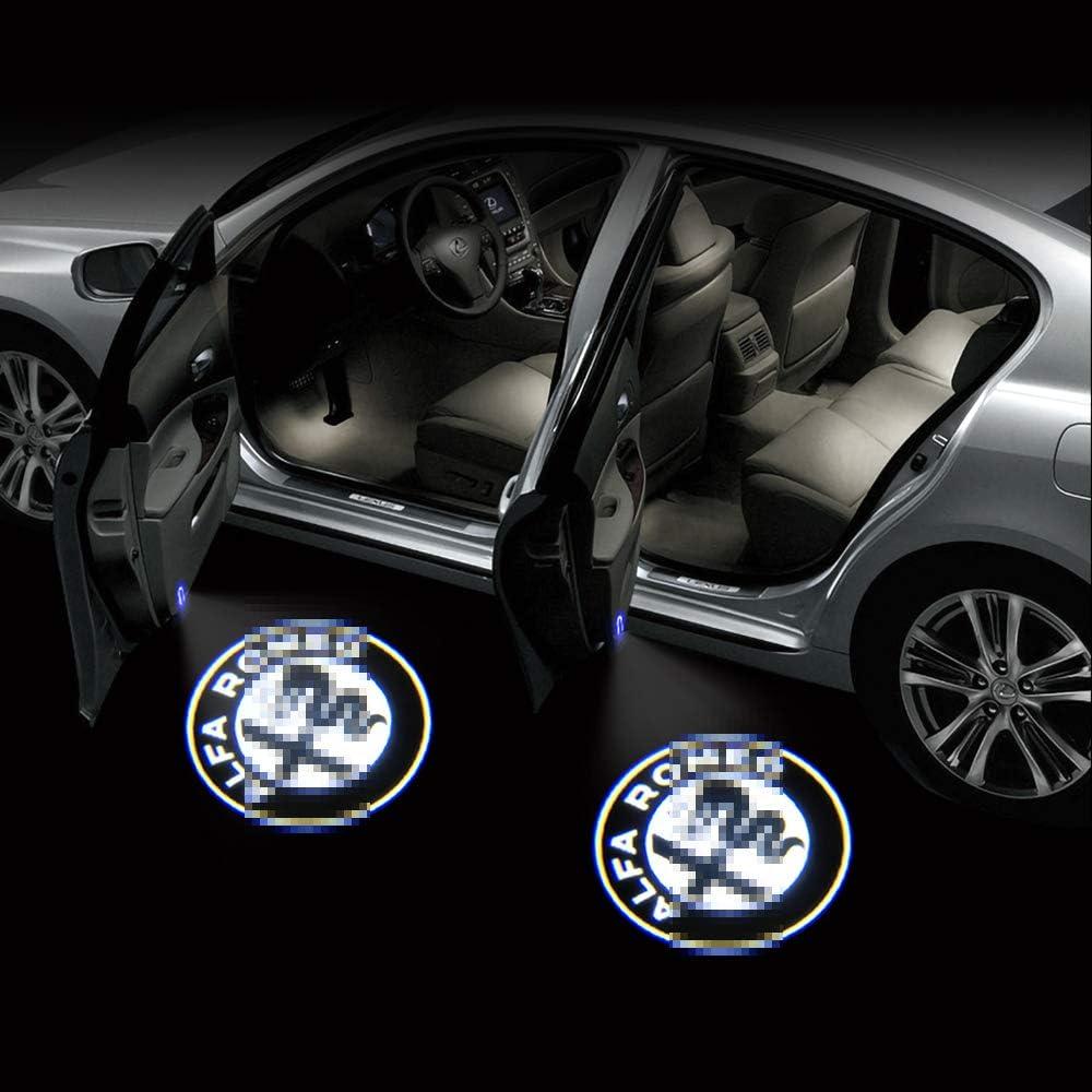Zobir 4PCS Autot/ür Willkommenslichter Mit Freundlicher Genehmigung Licht Ghost Shadow Lamp Logo Symbol Projektor Lichter F/ür Alfa Romeo Stelvio//Mito//Giulietta//Giulia