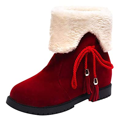 Amazon com | High Heel Ankle Boots Woman Snow Boots Winter