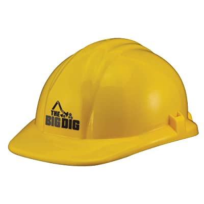 The Big Dig Construction Helmet Toy Yellow: Toys & Games